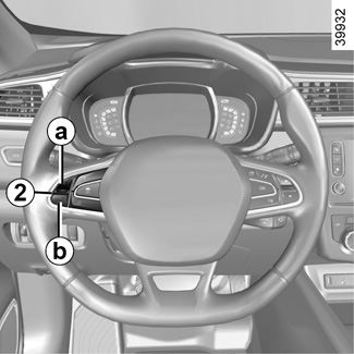 e guide renault com kadjar wie die technik in ihrem fahrzeug sie unterst tzt tempomat. Black Bedroom Furniture Sets. Home Design Ideas